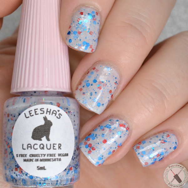 Leeshas Lacquer Red White and Boom