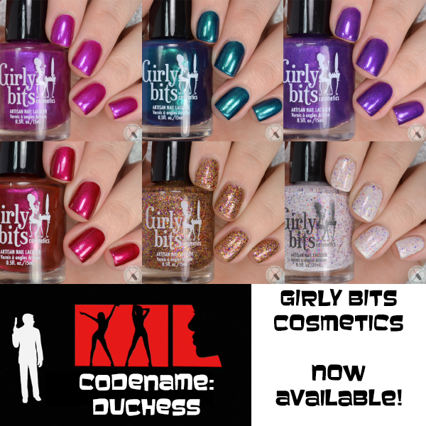 Girly Bits Cosmetics Codename Duchess Collection