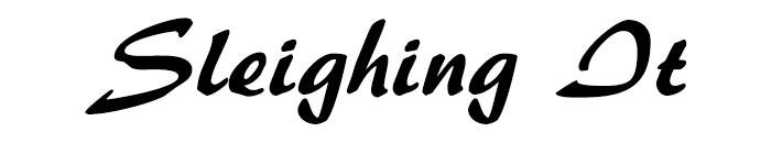 sleighing