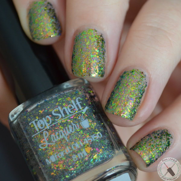 Top Shelf Lacquer Holiday Flake Out Happy Elf