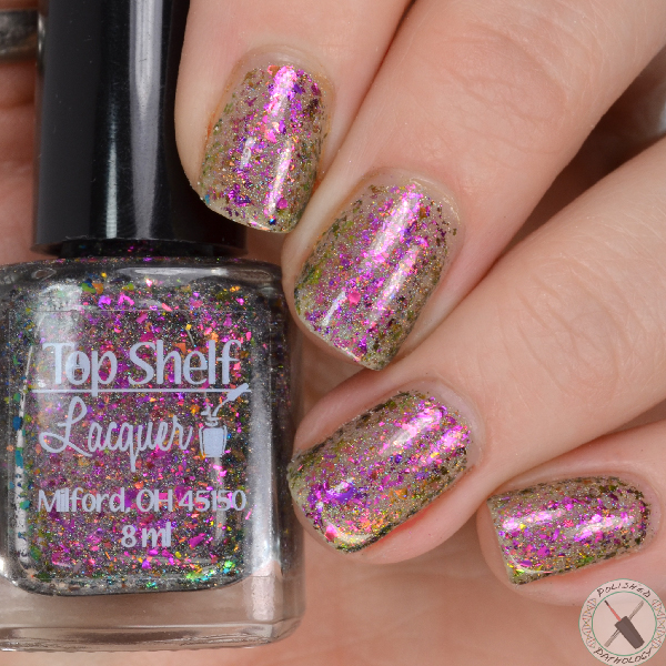 Top Shelf Lacquer Holiday Flake Out Winter Ruby