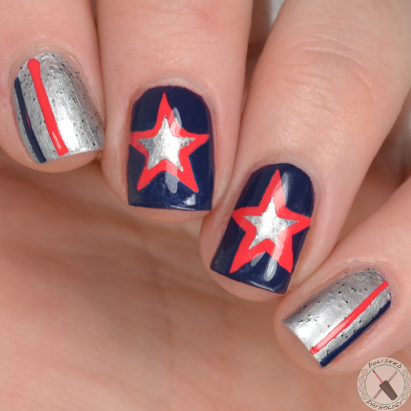 sally hansen super bowl nail art
