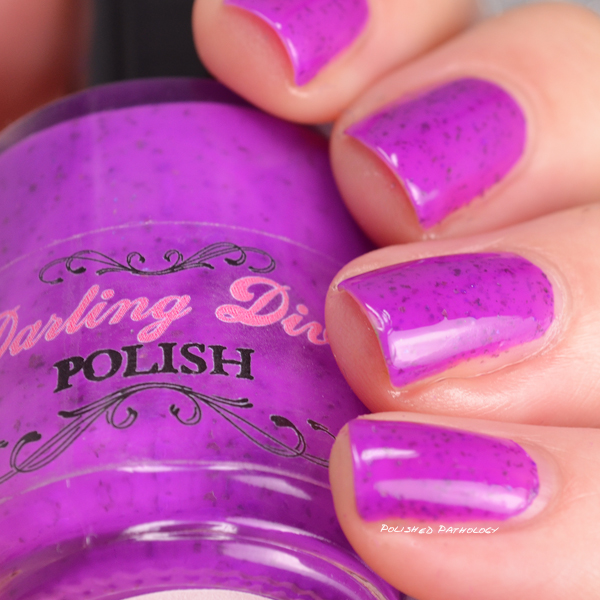 Darling Diva Polish Neopardy Collection This Color Ends in Urple side