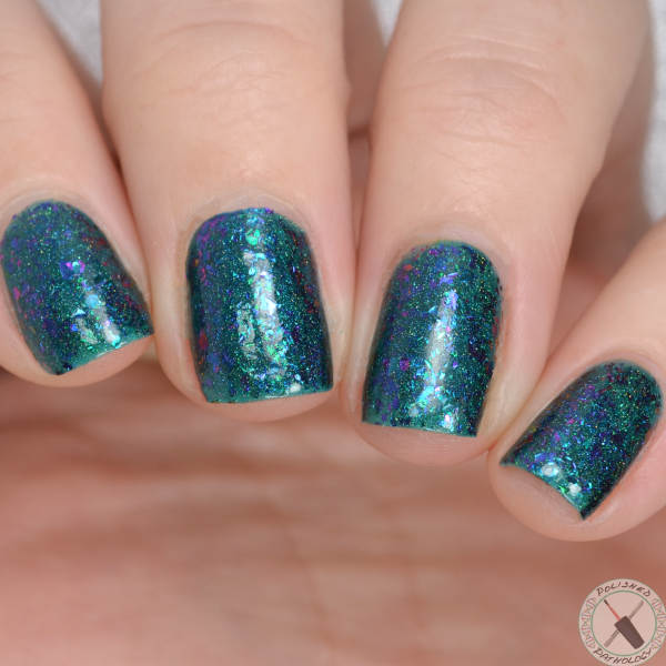 Top Shelf Lacquer Holiday Flake Out Blue Coconut Cocktail
