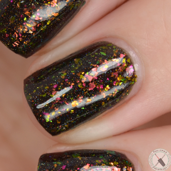 Top Shelf Lacquer Holiday Flake Out Fireside Delight