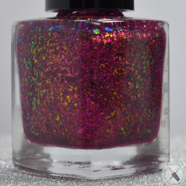 Top Shelf Lacquer Holiday Flake Out Cranberry Moscow Mule