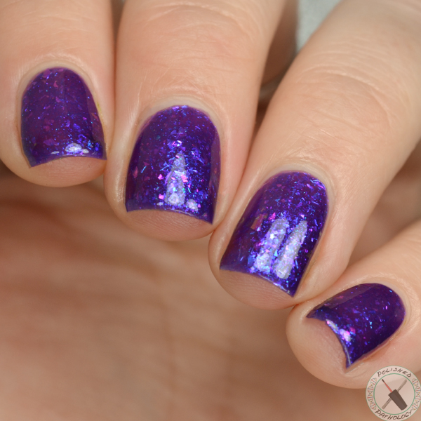 Ever After Polish  Jelly Collection Purple Haze swatched by Polished Pathology