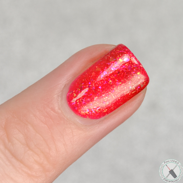 Ever After Polish  Jelly Collection Tequila Sunrise swatched by Polished Pathology