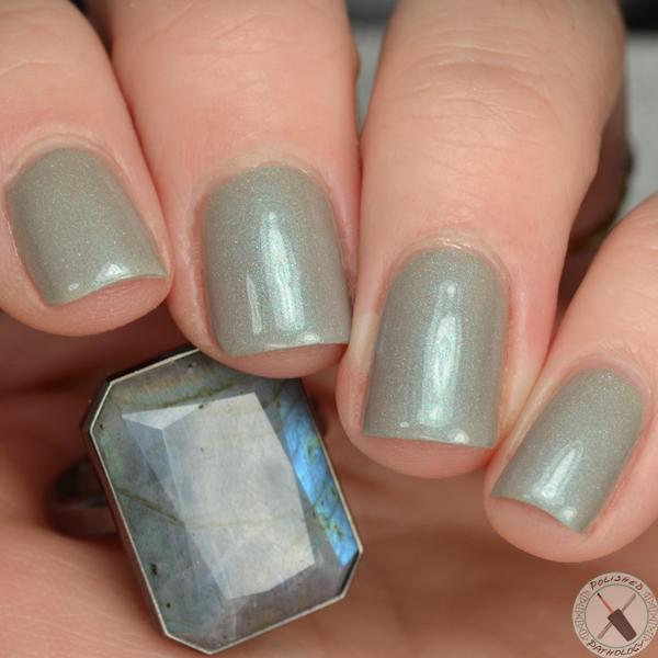 Leesha's Lacquer Geode and Gemstone Labradorite